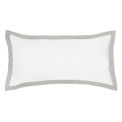 Dove Grey Linden Throw Pillow