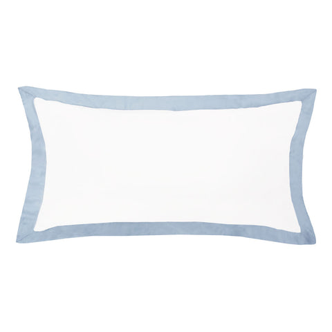 French Blue Linden Throw Pillow