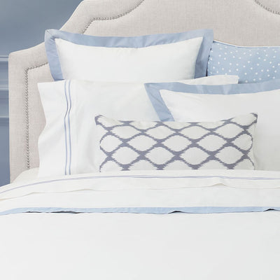French Blue Linden Border Sham