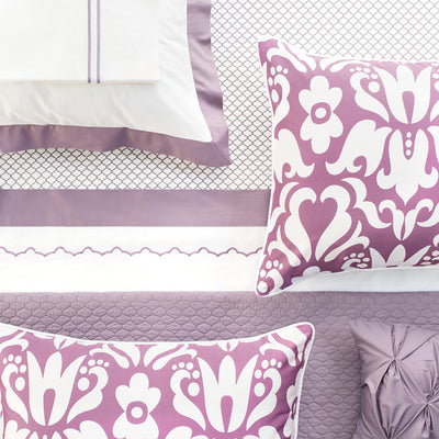 Bedroom inspiration and bedding decor | The Lilac Pintuck Throw Pillows | Crane and Canopy