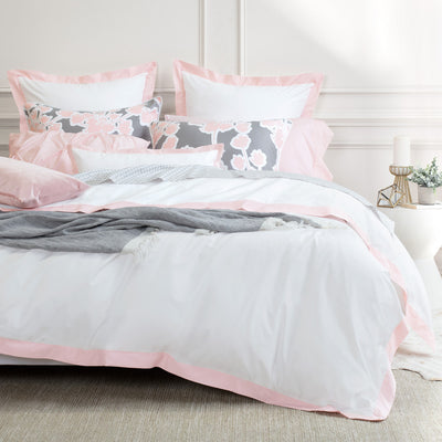 Bedroom inspiration and bedding decor | Pink Linden Border Duvet Cover Duvet Cover | Crane and Canopy