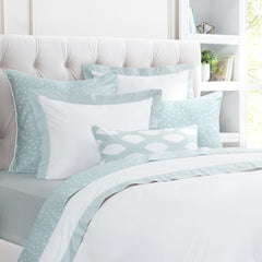 Great site for designer bedding | The Linden Porcelain Green Border