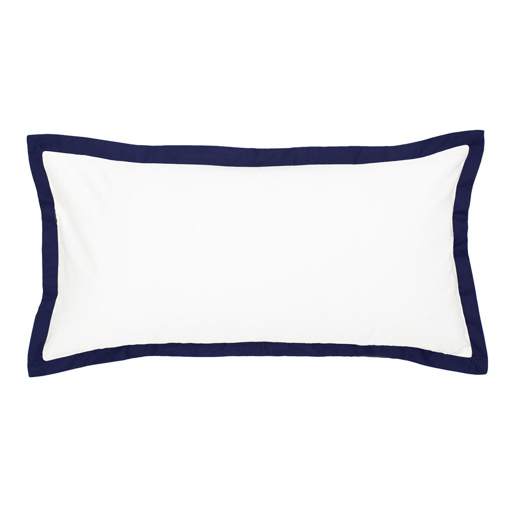 Bedroom inspiration and bedding decor | The Linden Navy Blue Throw Pillows | Crane and Canopy