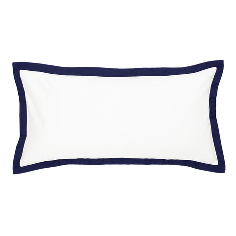 Navy Blue Linden Throw Pillow