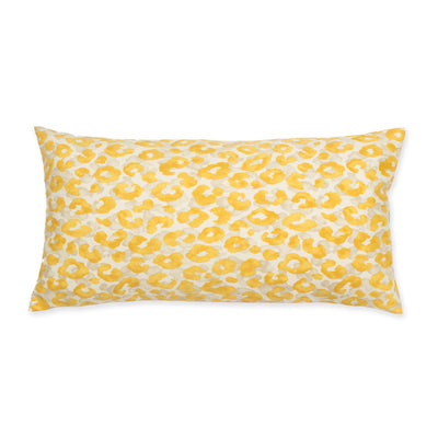 Bedroom inspiration and bedding decor | Marigold Leopard Throw Pillow Duvet Cover | Crane and Canopy