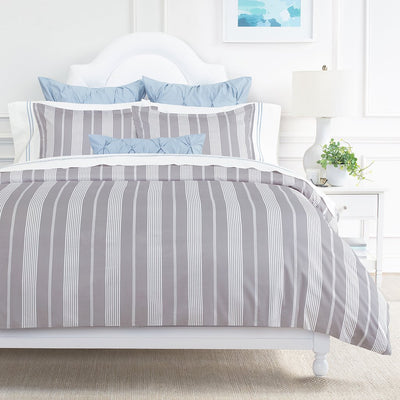 Bedroom inspiration and bedding decor | Grey Marina Sham Duvet Cover | Crane and Canopy