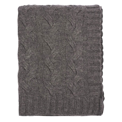 Dark Grey Merino Wool Throw