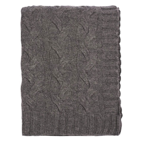 The Dark Grey Merino Wool Throw