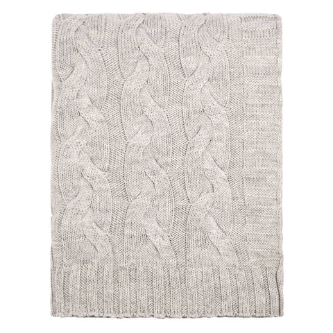 The Light Grey Merino Wool Throw
