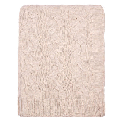 Sand Merino Wool Throw