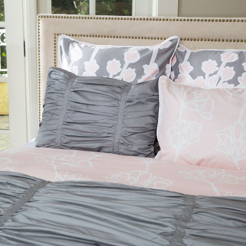 Bedroom inspiration and bedding decor | The Mirabel Gray Duvet Cover | Crane and Canopy