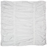 White Mirabel Ruched Euro Sham