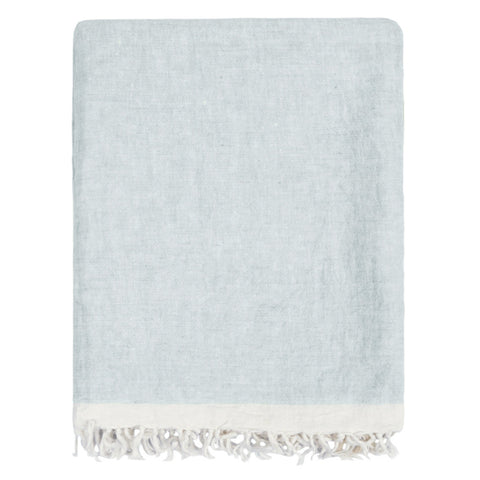 The Mist Solid Linen Throw