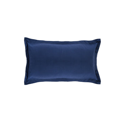 Monaco Blue Solid Linden Throw Pillow