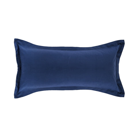 The Monaco Blue Solid Linden Throw Pillow