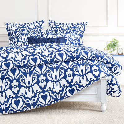 Bedroom inspiration and bedding decor | The Montgomery Blue Comforter Duvet Cover | Crane and Canopy