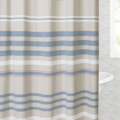 Bedroom inspiration and bedding decor | The Multi Stripe Shower Curtain Duvet Cover | Crane and Canopy