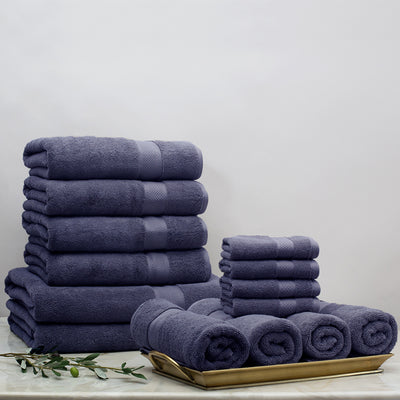 Classic Navy Towel Resort Bundle (4 Wash + 4 Hand + 4 Bath Towels + 2 Bath Sheets)