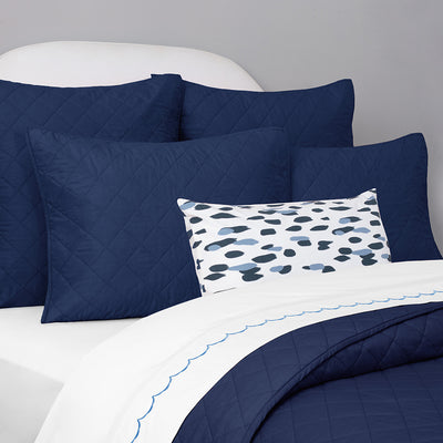 Bedroom inspiration and bedding decor | Navy Blue Diamond Quilt Sham Duvet Cover | Crane and Canopy