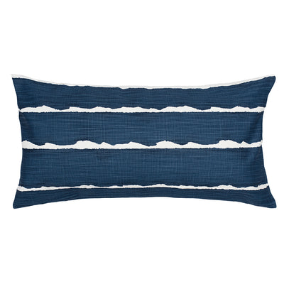 Navy Modern Lines Throw Pillow