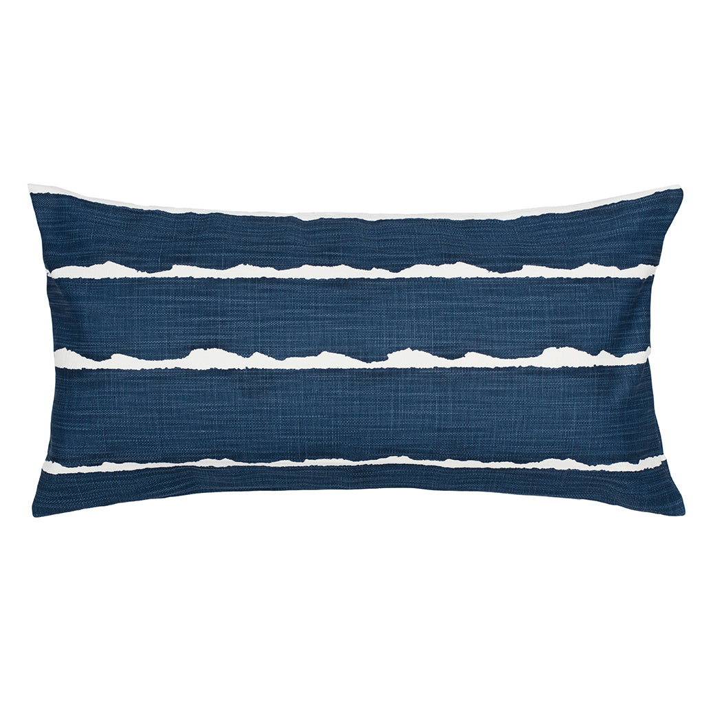 Bedroom inspiration and bedding decor | The Navy Modern Lines Throw Pillows | Crane and Canopy