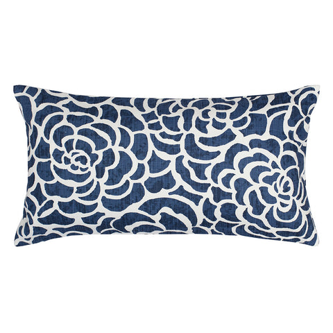 Bedroom inspiration and bedding decor | The Navy Peony Throw Pillow | Crane and Canopy
