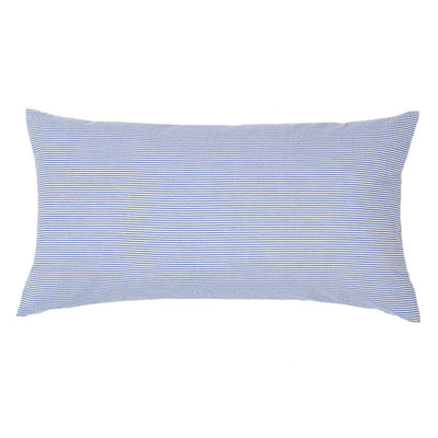 Navy Blue Seersucker Throw Pillow