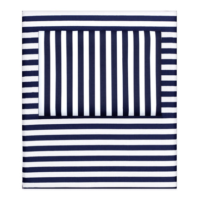 Bedroom inspiration and bedding decor | The Navy Blue Striped Sheet Sets | Crane and Canopy