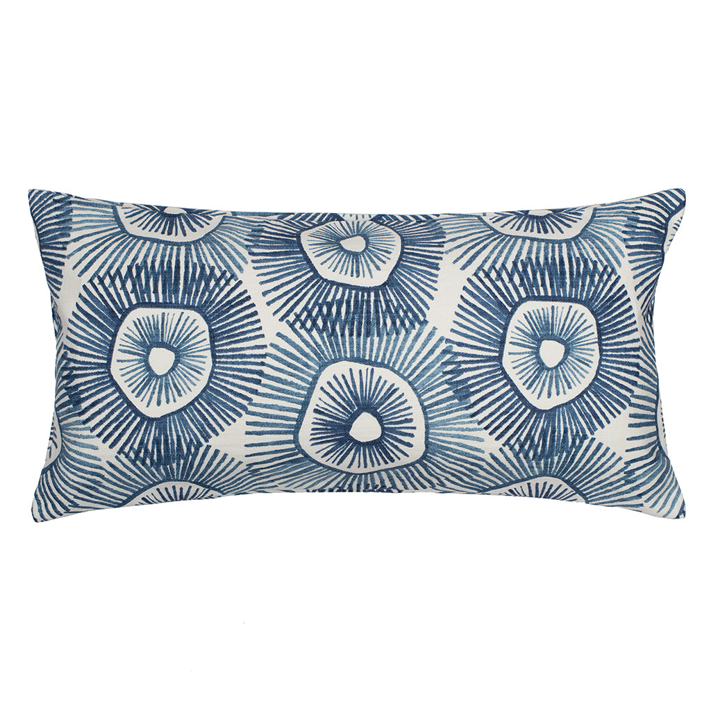 The Navy Sun Burst Throw Pillow Crane Canopy