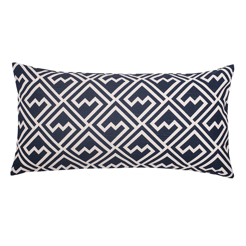 Bedroom inspiration and bedding decor | The Navy and White Zigzag Throw Pillows | Crane and Canopy