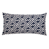 Navy and White Zigzag Throw Pillow