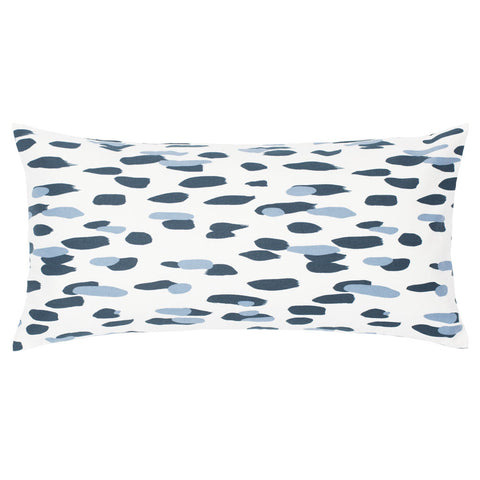 The Navy and Dusk Blue Brushstrokes Throw Pillow