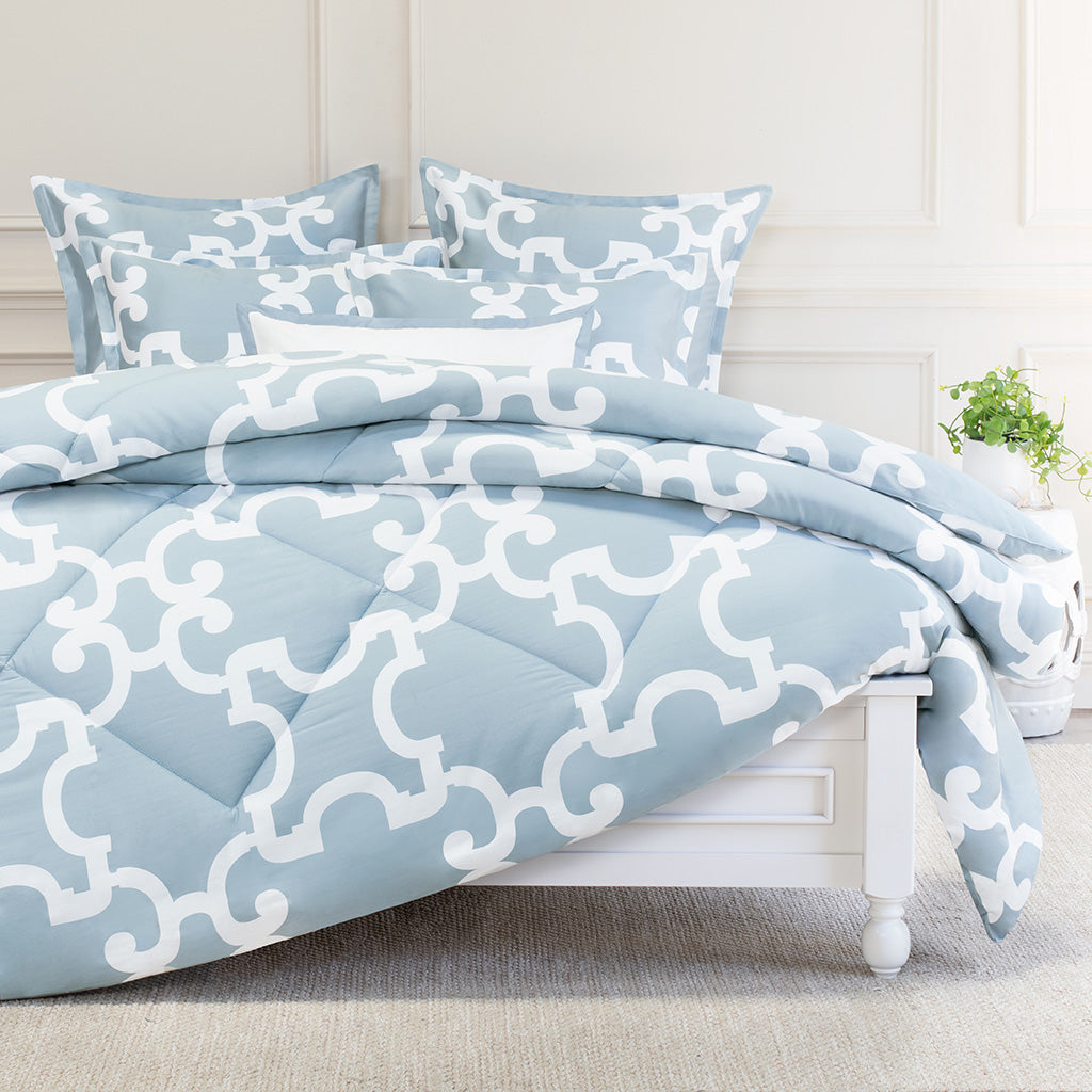 Bedroom inspiration and bedding decor | The Noe Blue Comforter Duvet Cover | Crane and Canopy