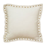 Cream Studded Pillow