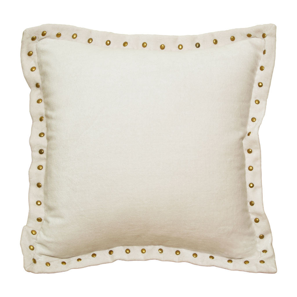 Bedroom inspiration and bedding decor | The Cream Studded Velvet Throw Pillows | Crane and Canopy