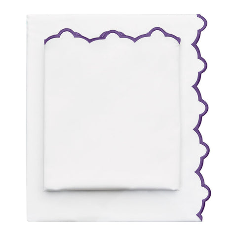 The Purple Scalloped Embroidered Sheet Set