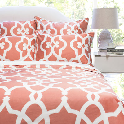 Bedroom inspiration and bedding decor | The Pacific Coral Duvet Cover | Crane and Canopy