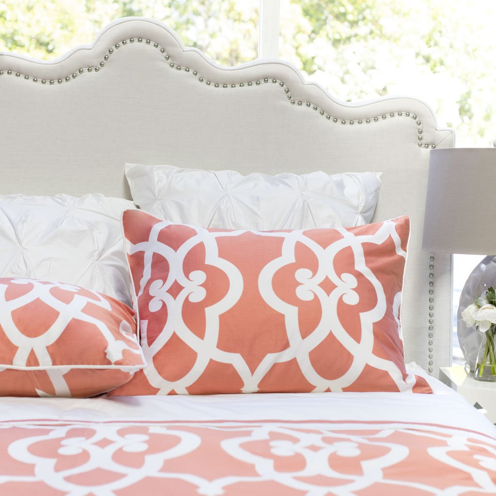 Bedroom inspiration and bedding decor | Coral Pacific Sham Duvet Cover | Crane and Canopy