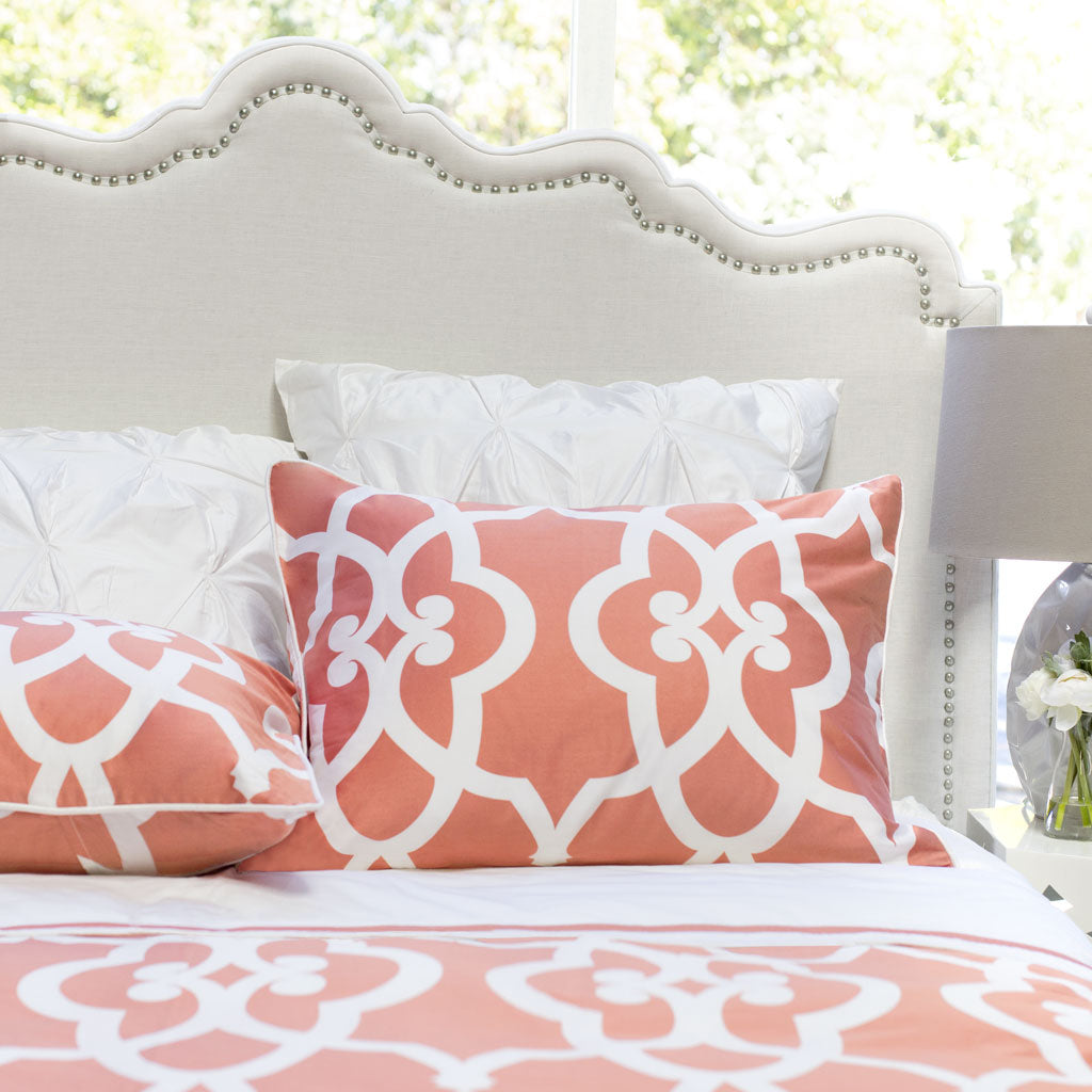 ikat bedding and coral crib large navy bed