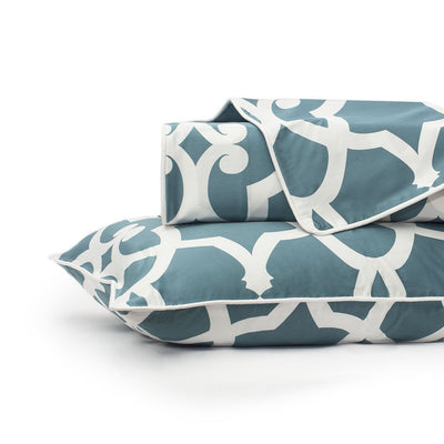 Teal Pacific Duvet Cover