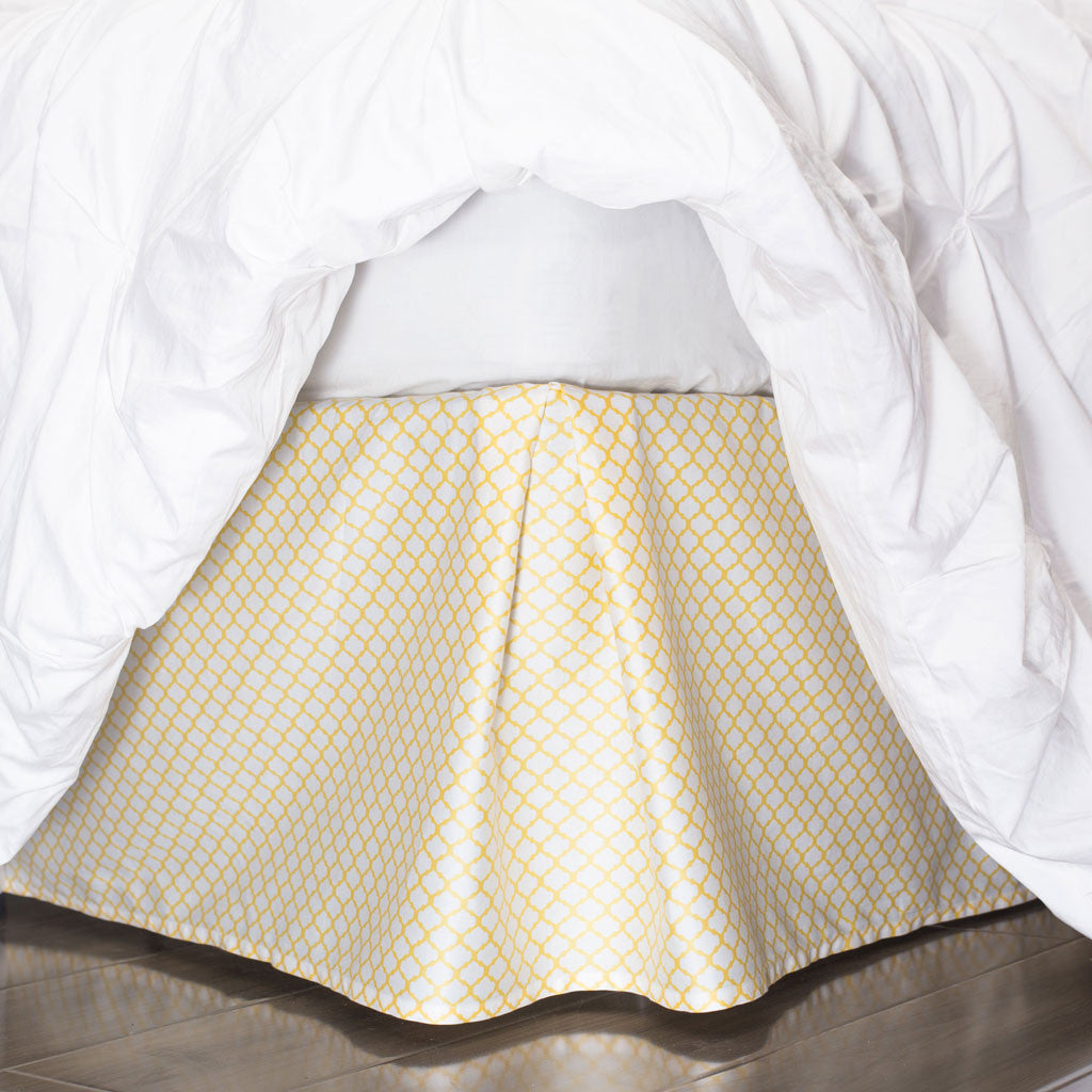 Bedroom inspiration and bedding decor | The Yellow Cloud Bed Skirt Duvet Cover | Crane and Canopy