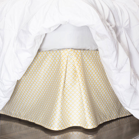 Yellow Cloud Bed Skirt