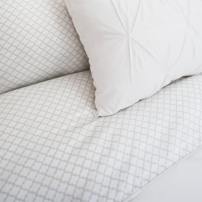 Bedroom inspiration and bedding decor | The Page Gray (discontinued) Duvet Cover | Crane and Canopy