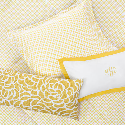 Bedroom inspiration and bedding decor | The Page Yellow Comforter Duvet Cover | Crane and Canopy