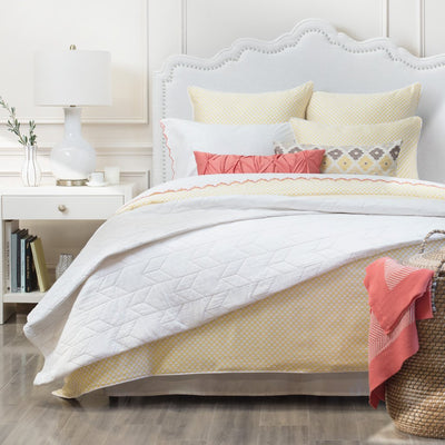 Bedroom inspiration and bedding decor | Soft White Chevron Quilt Duvet Cover | Crane and Canopy
