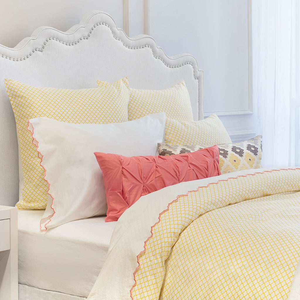 Bedroom inspiration and bedding decor | The Page Yellow Duvet Cover | Crane and Canopy
