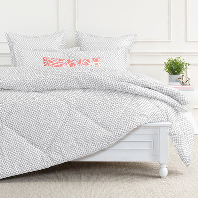 Bedroom inspiration and bedding decor | Page Grey Euro Flange Sham Duvet Cover | Crane and Canopy