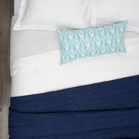 Bedroom inspiration and bedding decor | The Chevron Navy Blue Quilt & Sham Duvet Cover | Crane and Canopy
