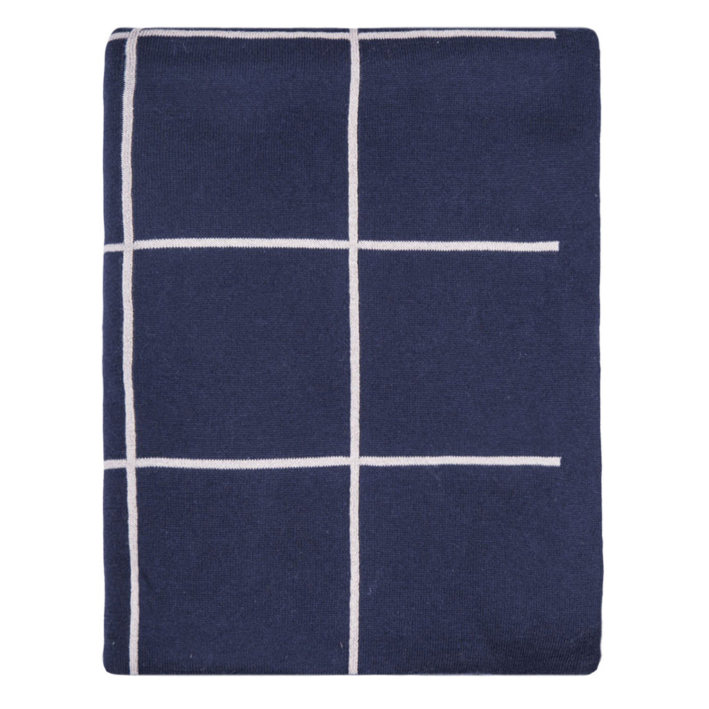Bedroom inspiration and bedding decor | The Navy Pane Throw | Crane and Canopy