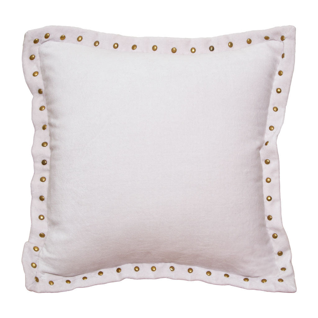 the pale pink studded velvet throw pillow  crane  canopy - bedroom inspiration and bedding decor  the pale pink studded velvet throwpillows  crane and